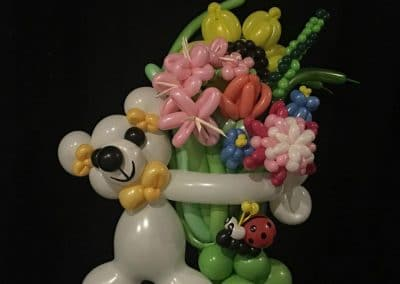 Bouquet. Traditional bouquet in bear hug with ladybug accent extra awesome and extra adorable
